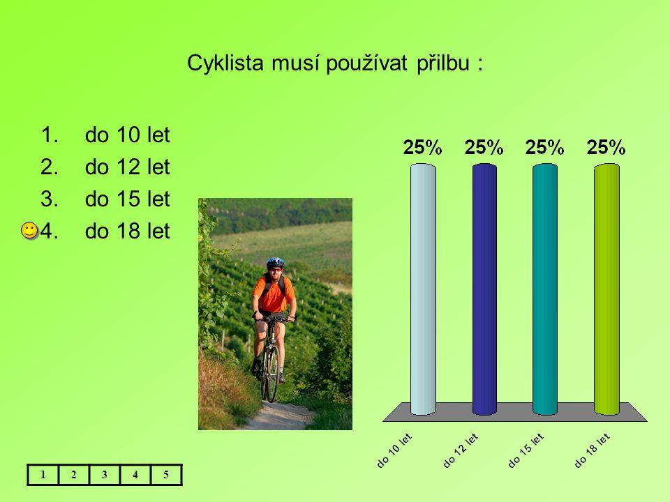 Cyklista musí používat přilbu :