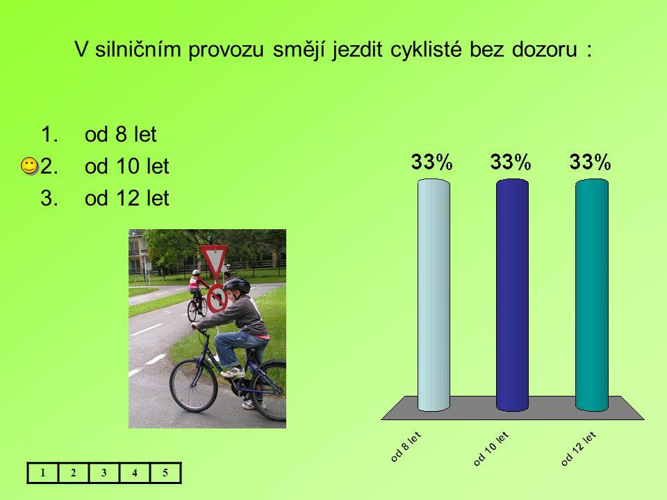 V silničním provozu smějí jezdit cyklisté bez dozoru :