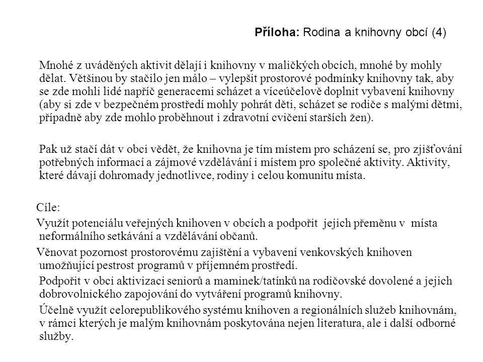 Příloha: Rodina a knihovny obcí (4)