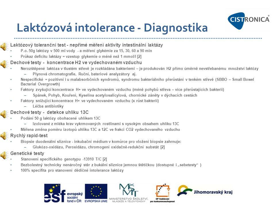 Laktózová intolerance - Diagnostika