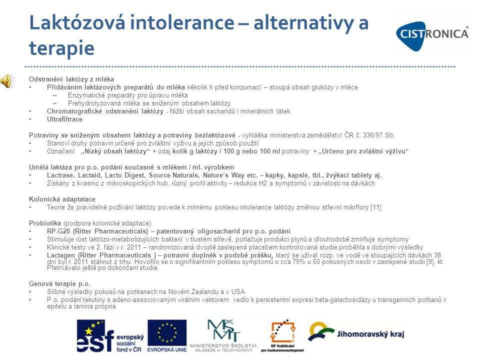 Laktózová intolerance – alternativy a terapie
