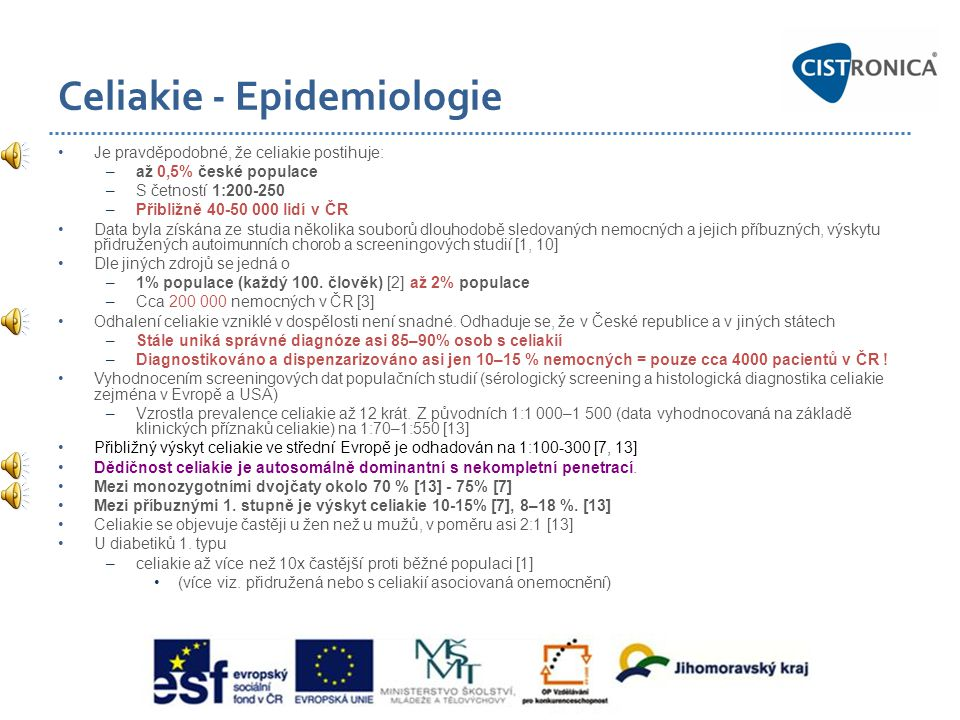 Celiakie - Epidemiologie