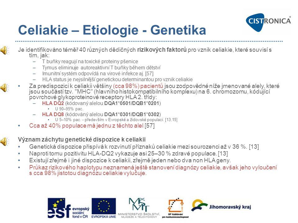 Celiakie – Etiologie - Genetika