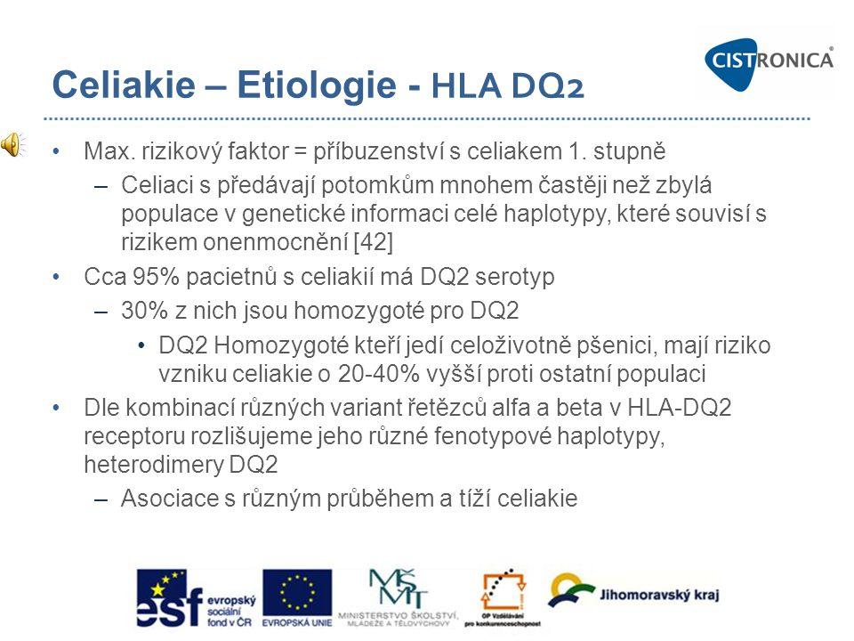 Celiakie – Etiologie - HLA DQ2