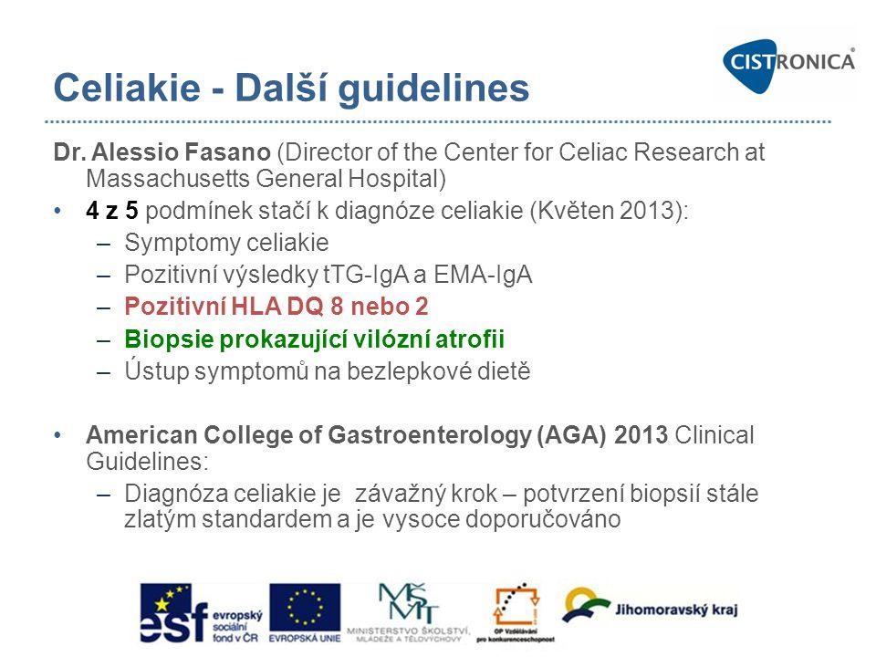 Celiakie - Další guidelines