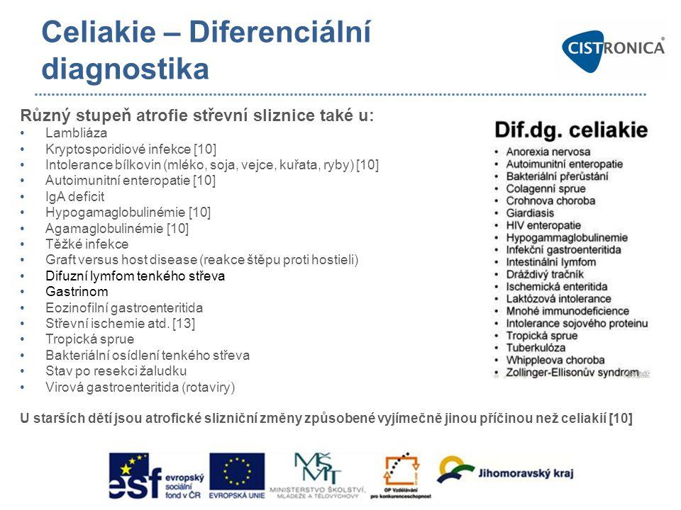 Celiakie – Diferenciální diagnostika