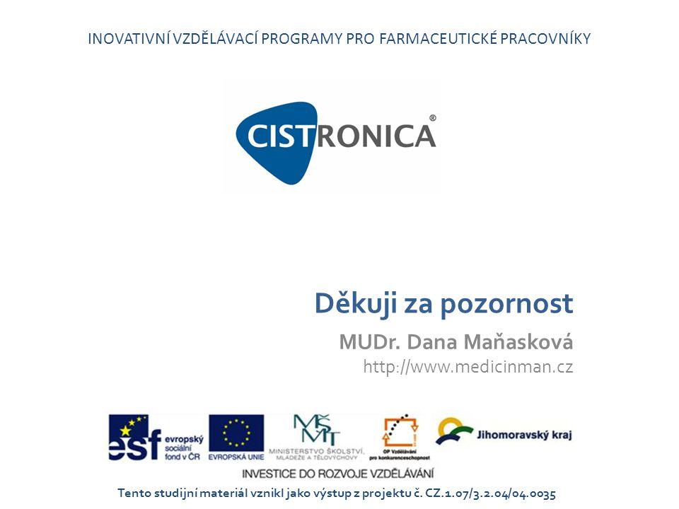 MUDr. Dana Maňasková http://www.medicinman.cz