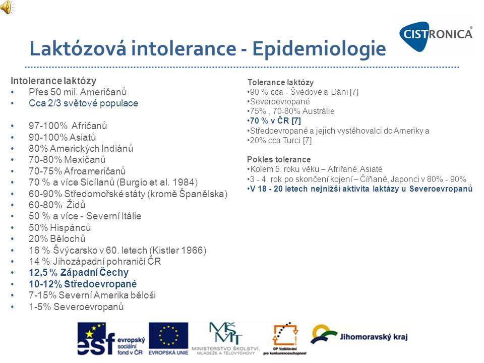 Laktózová intolerance - Epidemiologie