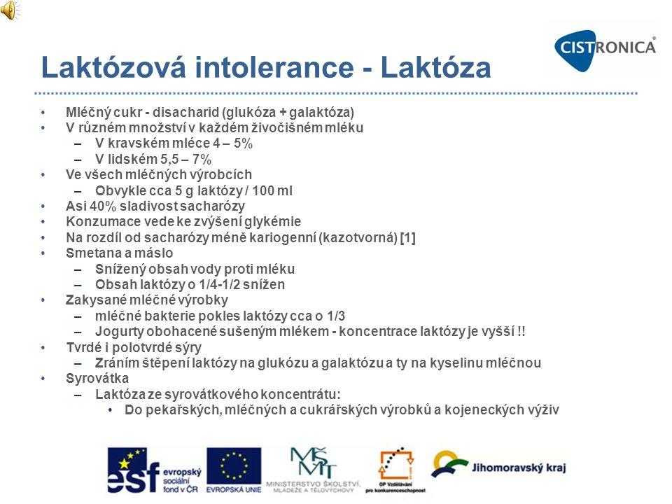 Laktózová intolerance - Laktóza