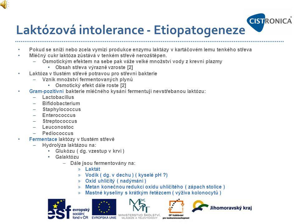 Laktózová intolerance - Etiopatogeneze