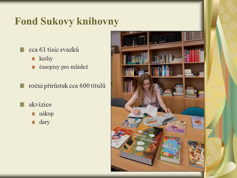 Fond Sukovy knihovny cca 61 tisíc svazků