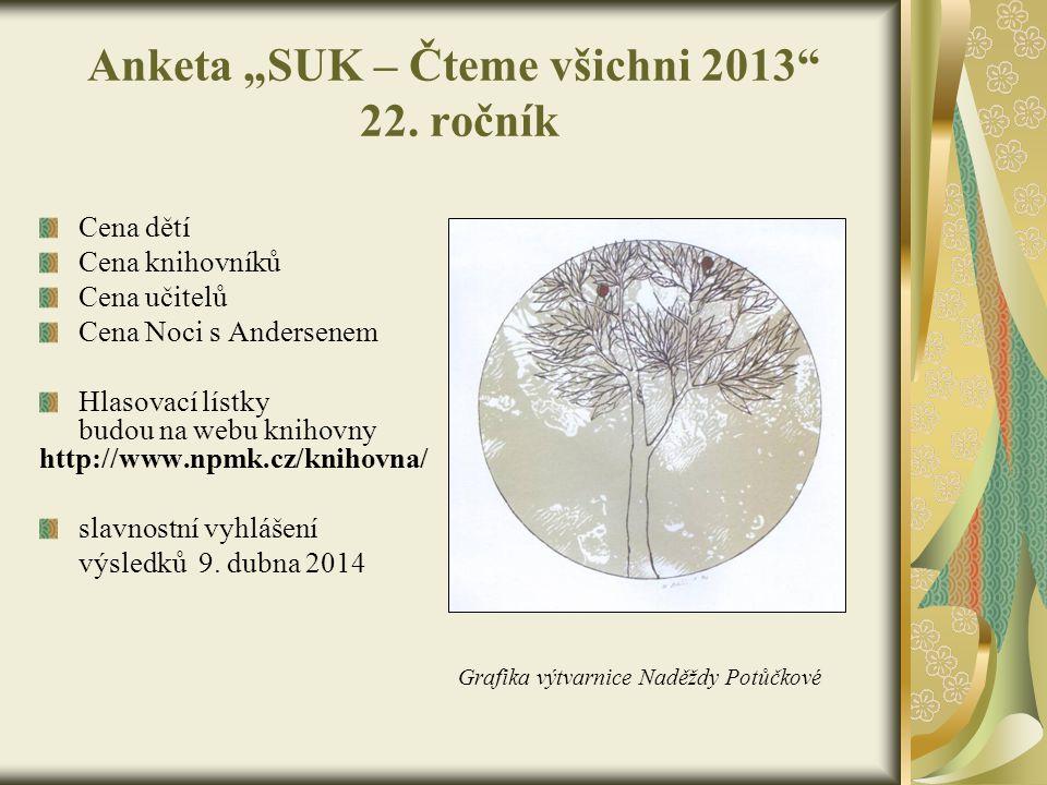 """Anketa """"SUK – Čteme všichni 2013 22. ročník"""
