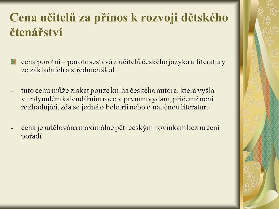 Cena učitelů za přínos k rozvoji dětského čtenářství