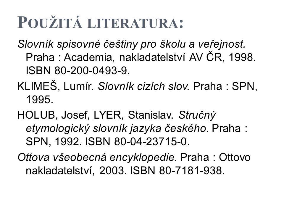 Použitá literatura: