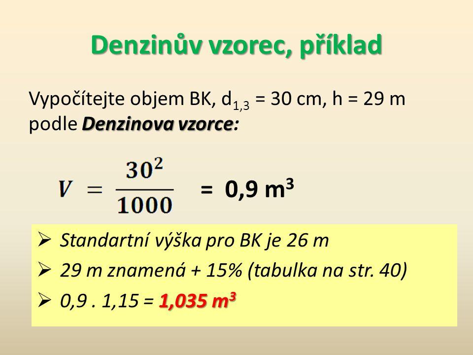 Denzinův vzorec, příklad