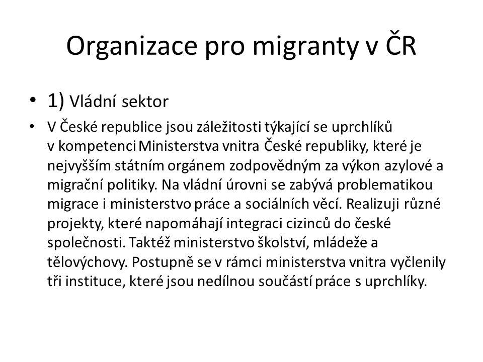Organizace pro migranty v ČR