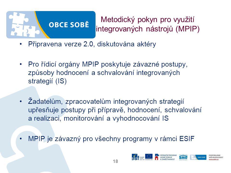 Metodický pokyn pro využití integrovaných nástrojů (MPIP)