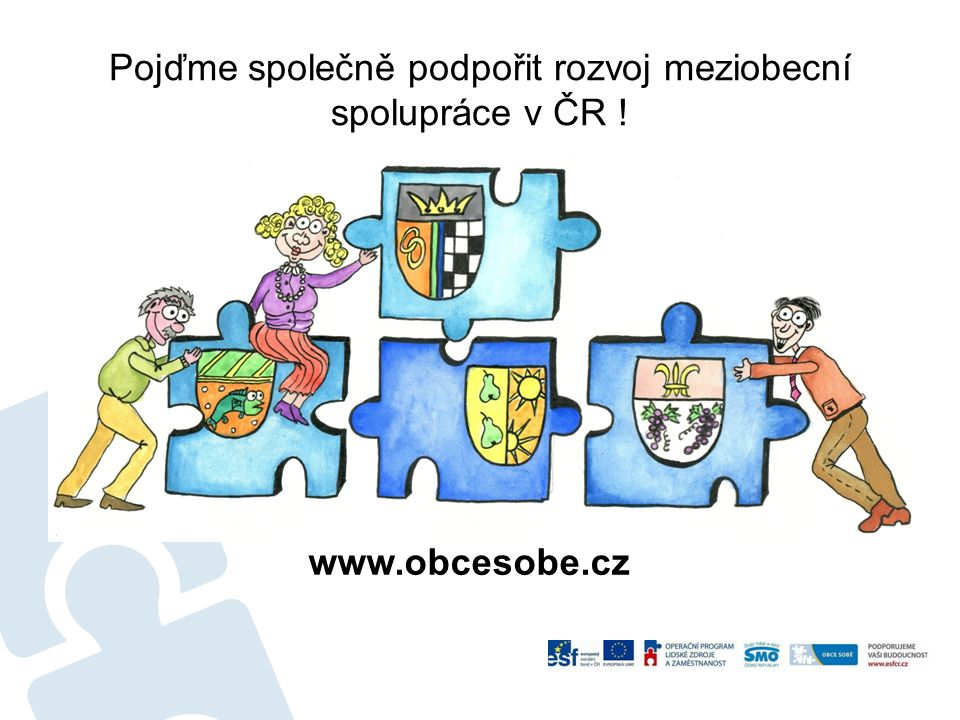Pojďme společně podpořit rozvoj meziobecní spolupráce v ČR !