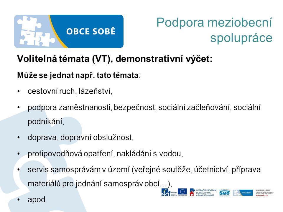 Volitelná témata (VT), demonstrativní výčet: