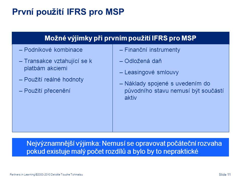 S čím se můžou MSP potýkat při aplikaci IFRS 12
