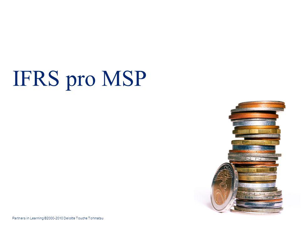 Obsah IFRS pro MSP IFRS pro MSP jsou: