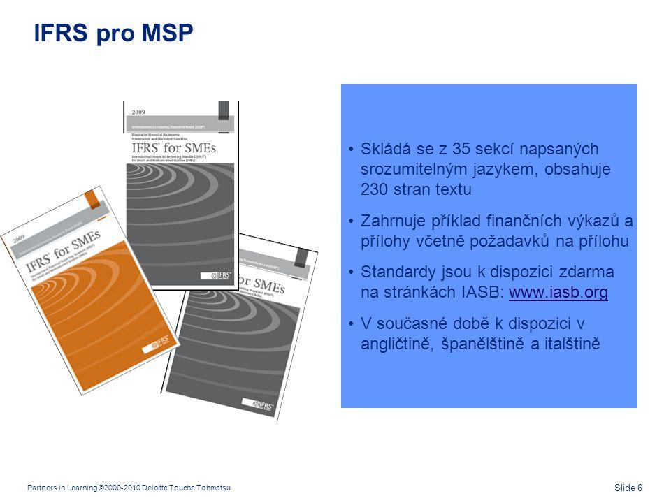 Komu jsou IFRS pro MSP určeny