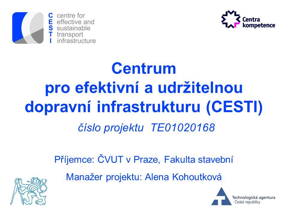 Centrum pro efektivní a udržitelnou dopravní infrastrukturu (CESTI) číslo projektu TE01020168