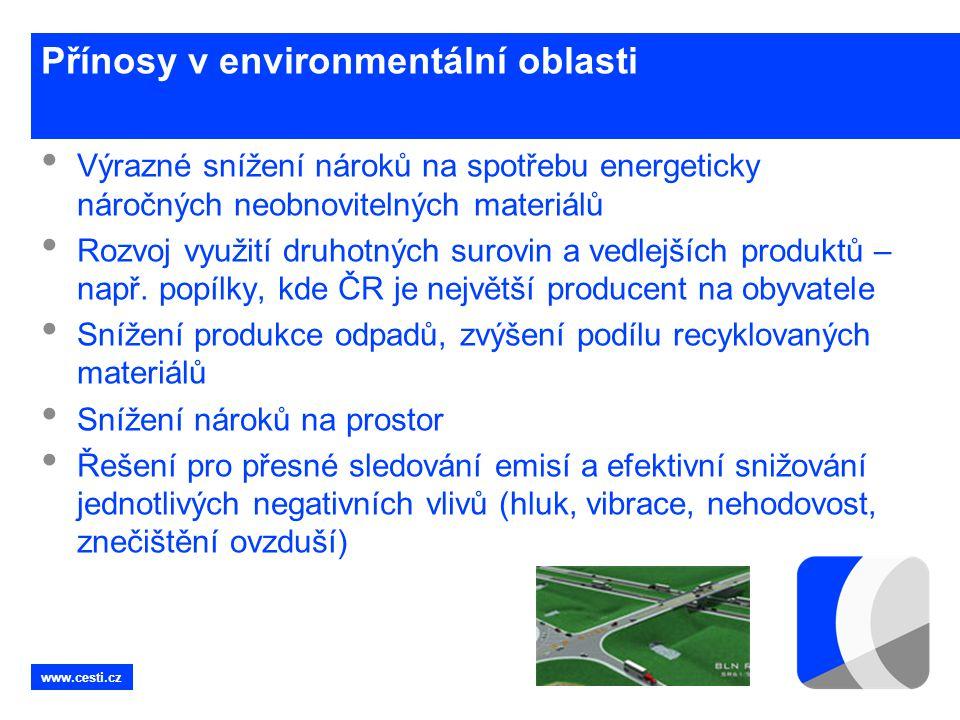 Přínosy v environmentální oblasti