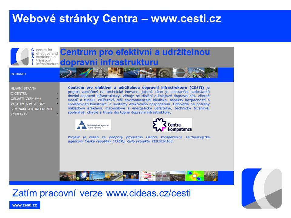Webové stránky Centra – www.cesti.cz