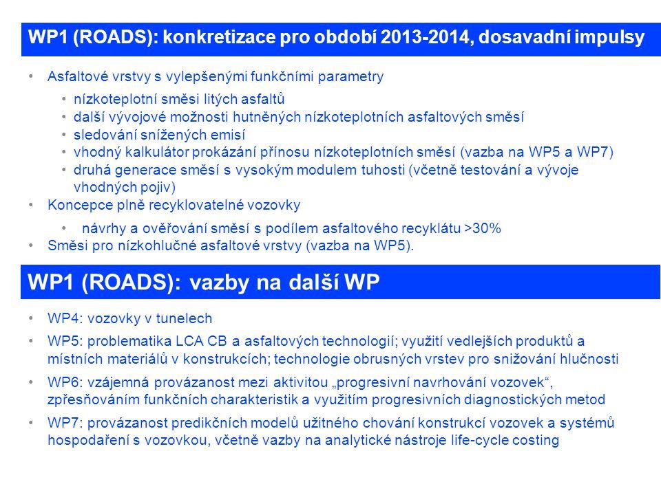 WP1 (ROADS): konkretizace pro období 2013-2014, dosavadní impulsy