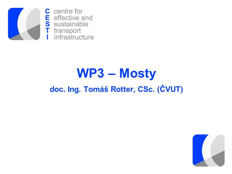 WP3 – Mosty doc. Ing. Tomáš Rotter, CSc. (ČVUT)