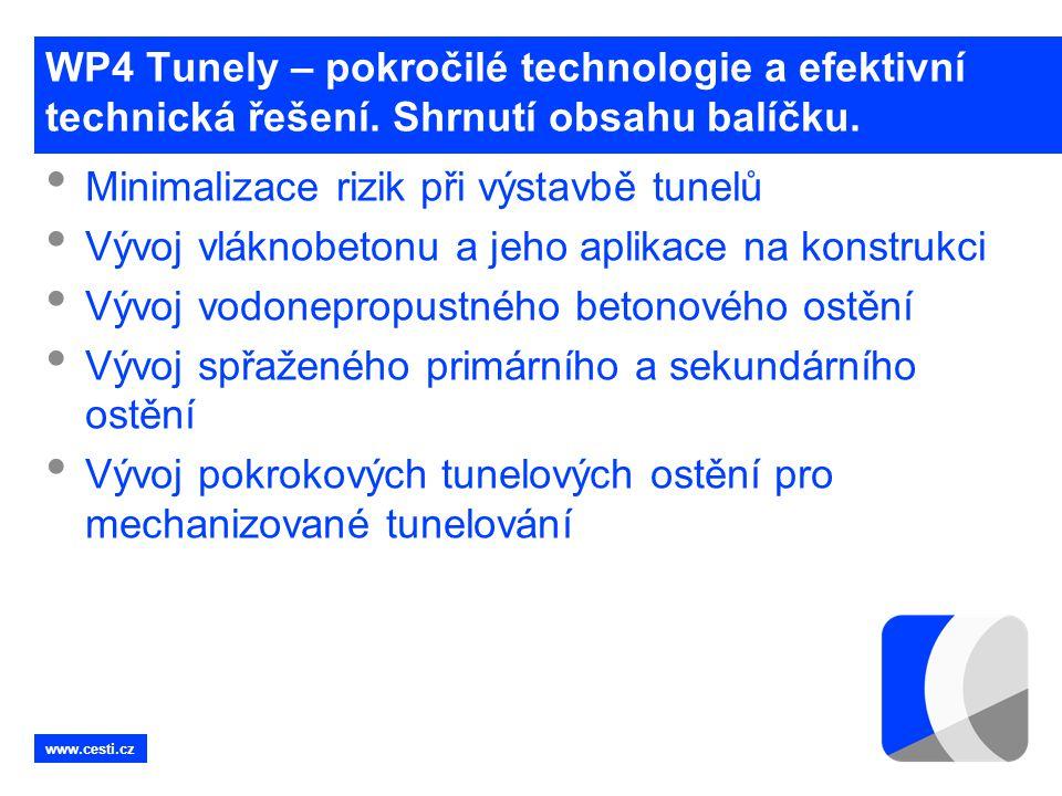 Minimalizace rizik při výstavbě tunelů