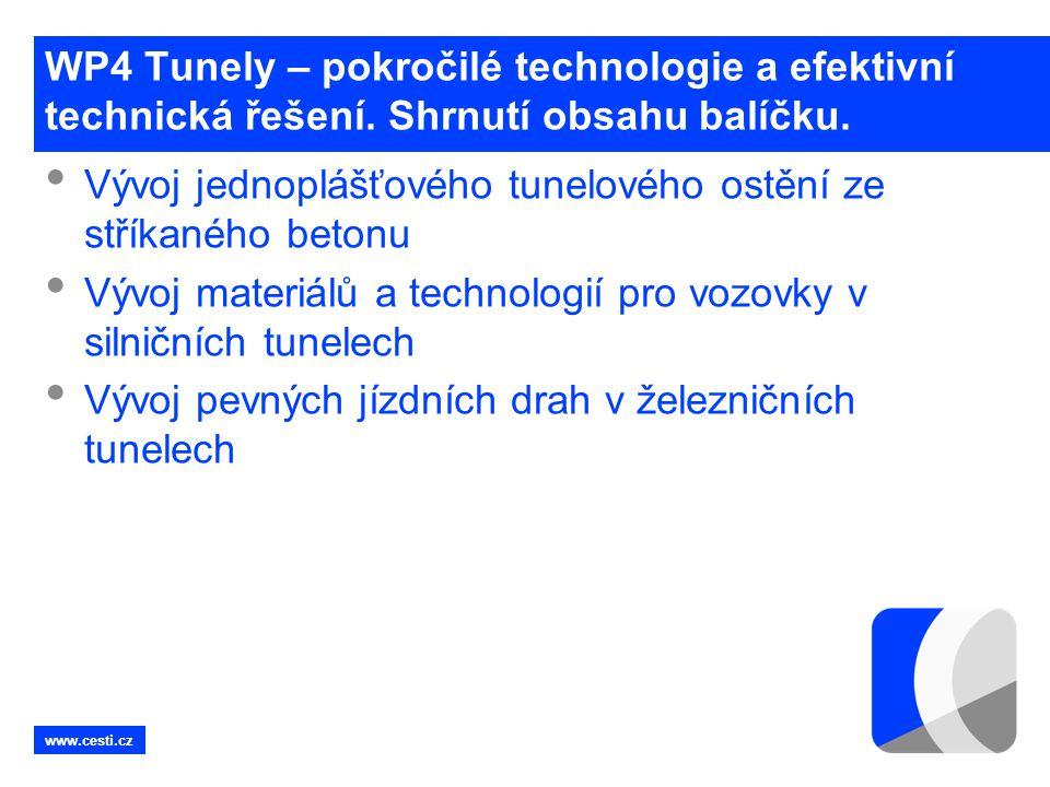 Vývoj jednoplášťového tunelového ostění ze stříkaného betonu