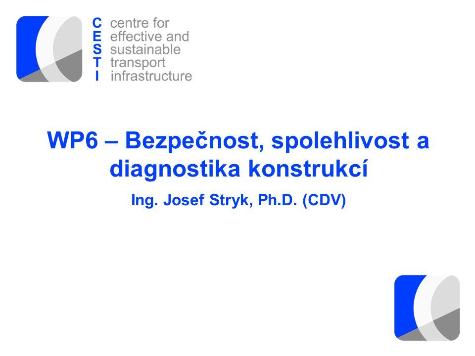 WP6 – Bezpečnost, spolehlivost a diagnostika konstrukcí Ing
