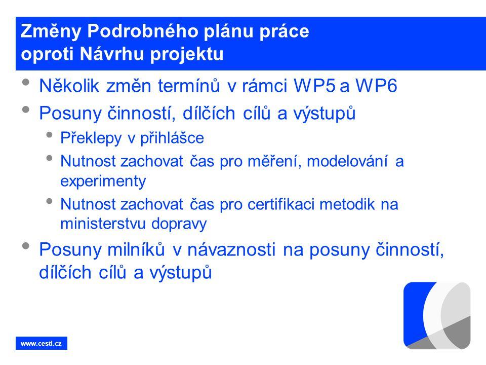 Změny Podrobného plánu práce oproti Návrhu projektu