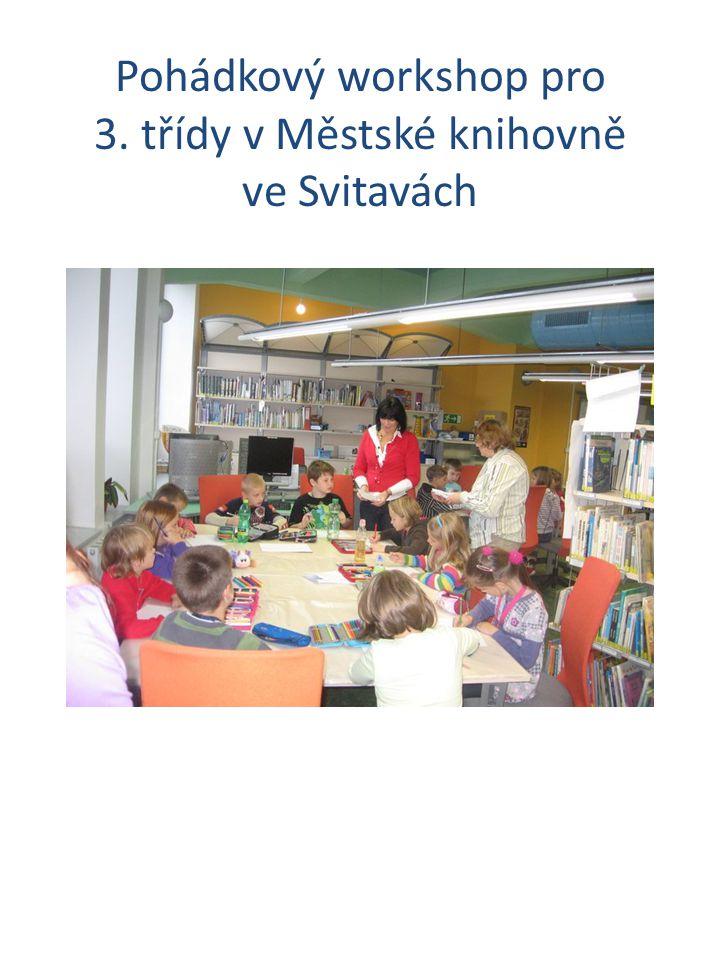 Pohádkový workshop pro 3. třídy v Městské knihovně ve Svitavách