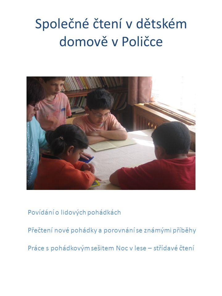 Společné čtení v dětském domově v Poličce