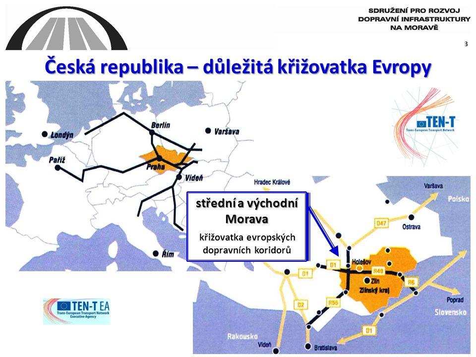 Česká republika – důležitá křižovatka Evropy