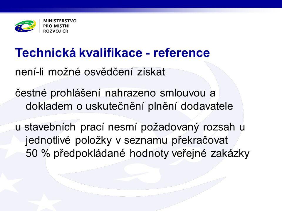 Technická kvalifikace - reference