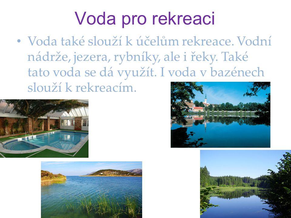 Voda pro rekreaci