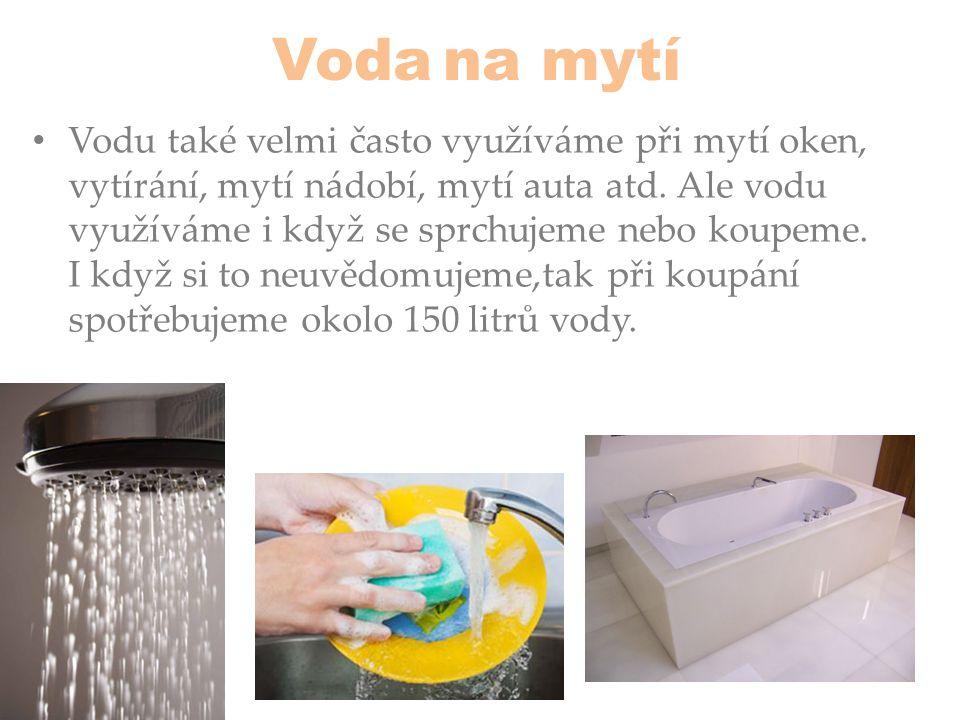 Voda na mytí