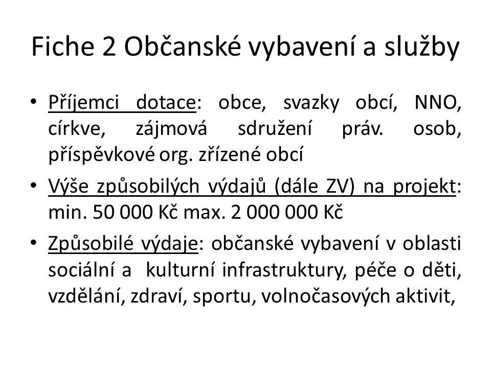 Fiche 2 Občanské vybavení a služby