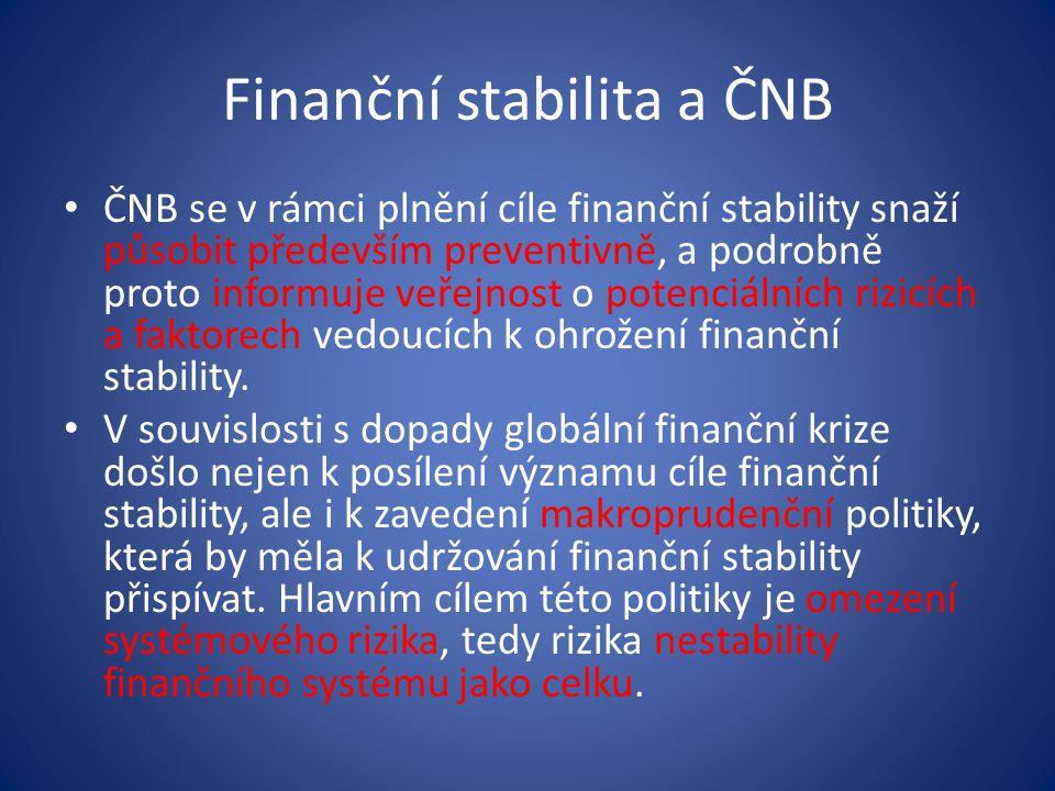 Finanční stabilita a ČNB