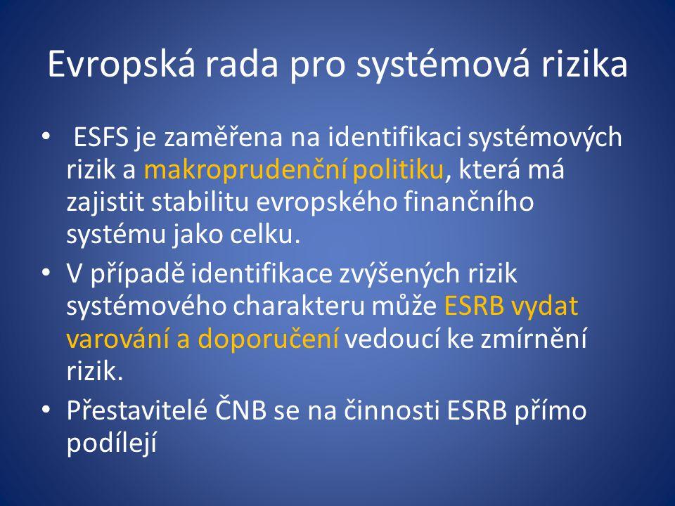 Evropská rada pro systémová rizika
