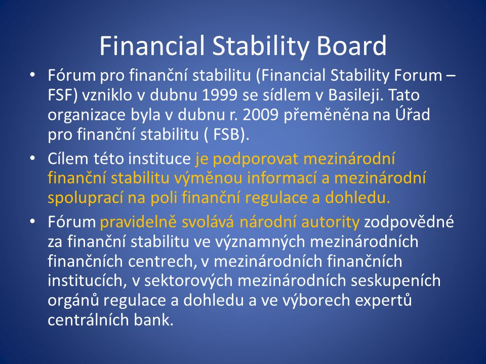 Financial Stability Board
