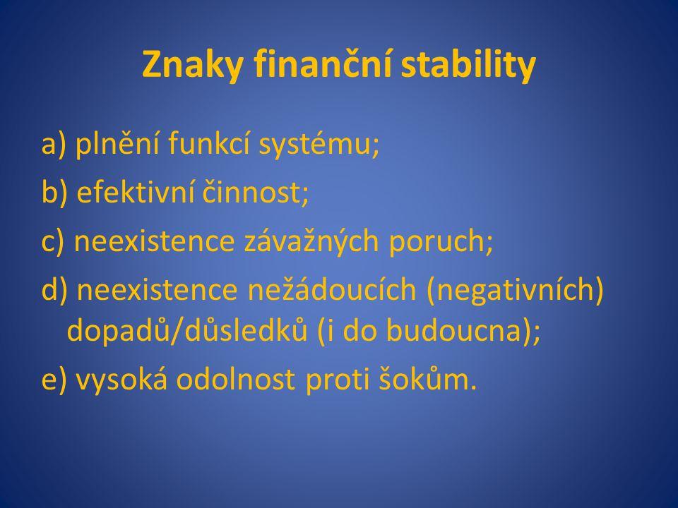 Znaky finanční stability