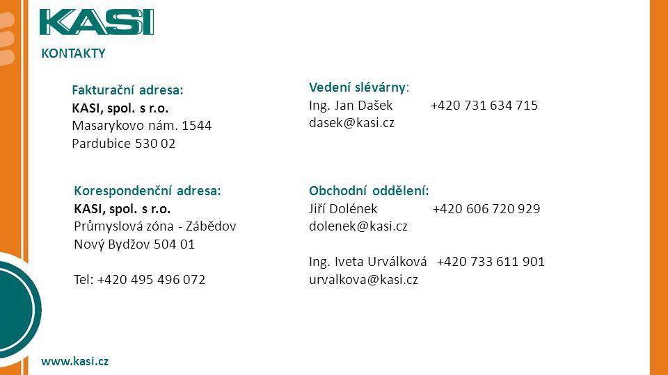 KASI, spol. s r.o. Masarykovo nám. 1544 Pardubice 530 02