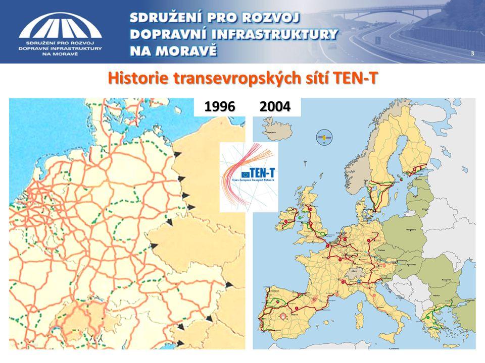 Historie transevropských sítí TEN-T