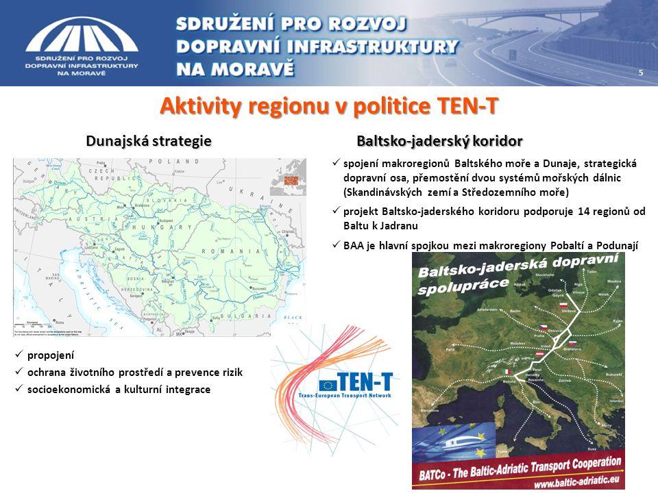Aktivity regionu v politice TEN-T