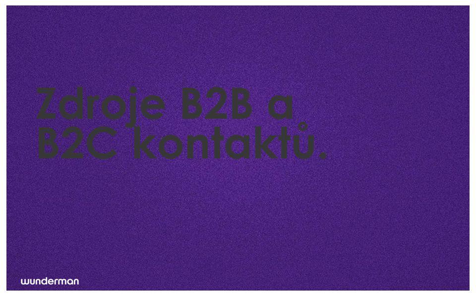 Zdroje B2B a B2C kontaktů.